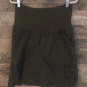 10 Gap Army Green Cargo Pocket Maternity Skirt